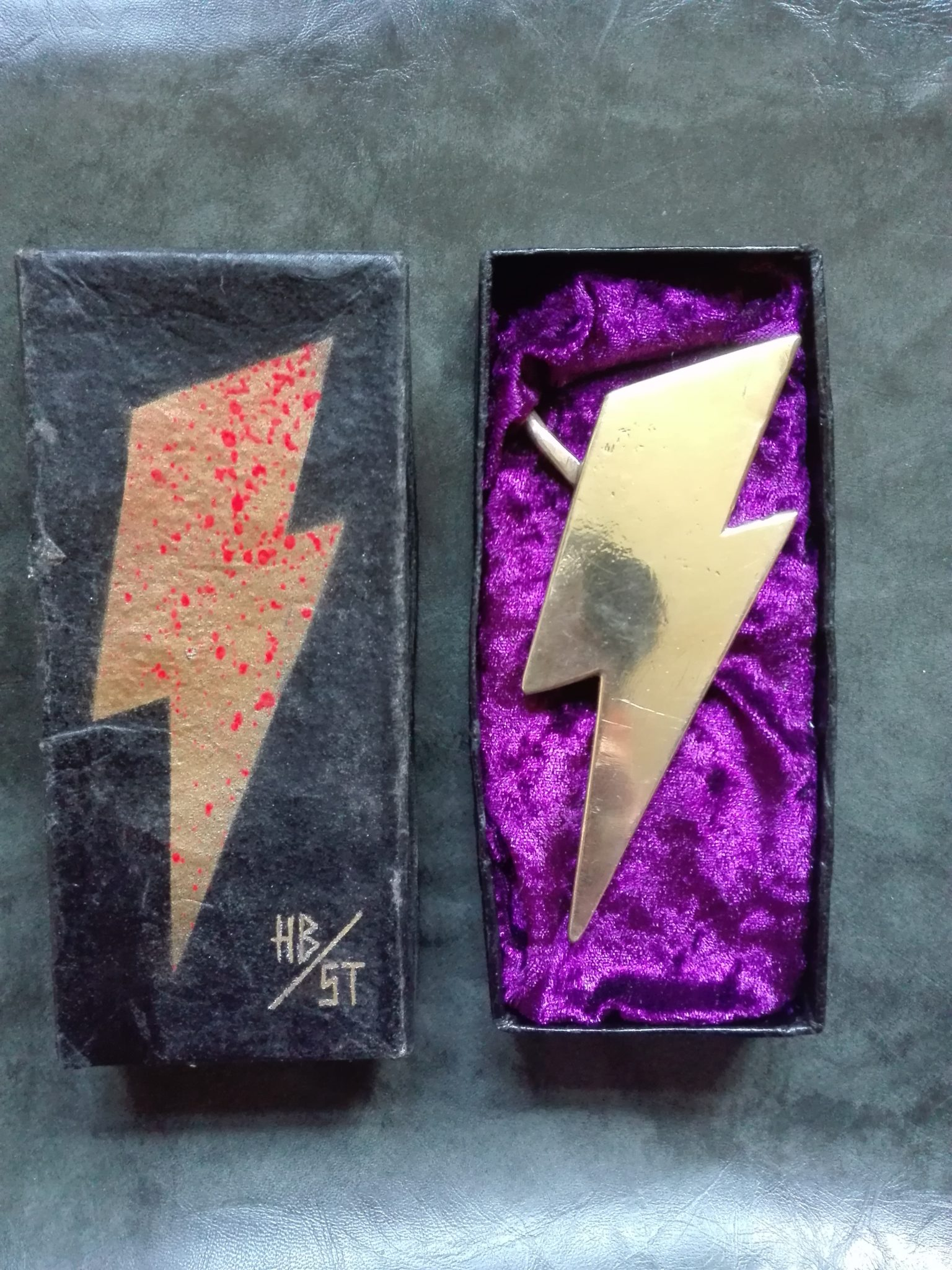 lightning bolt buckle / blitz gürtelschnalle